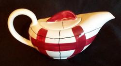 Habitant Red Teapot Back