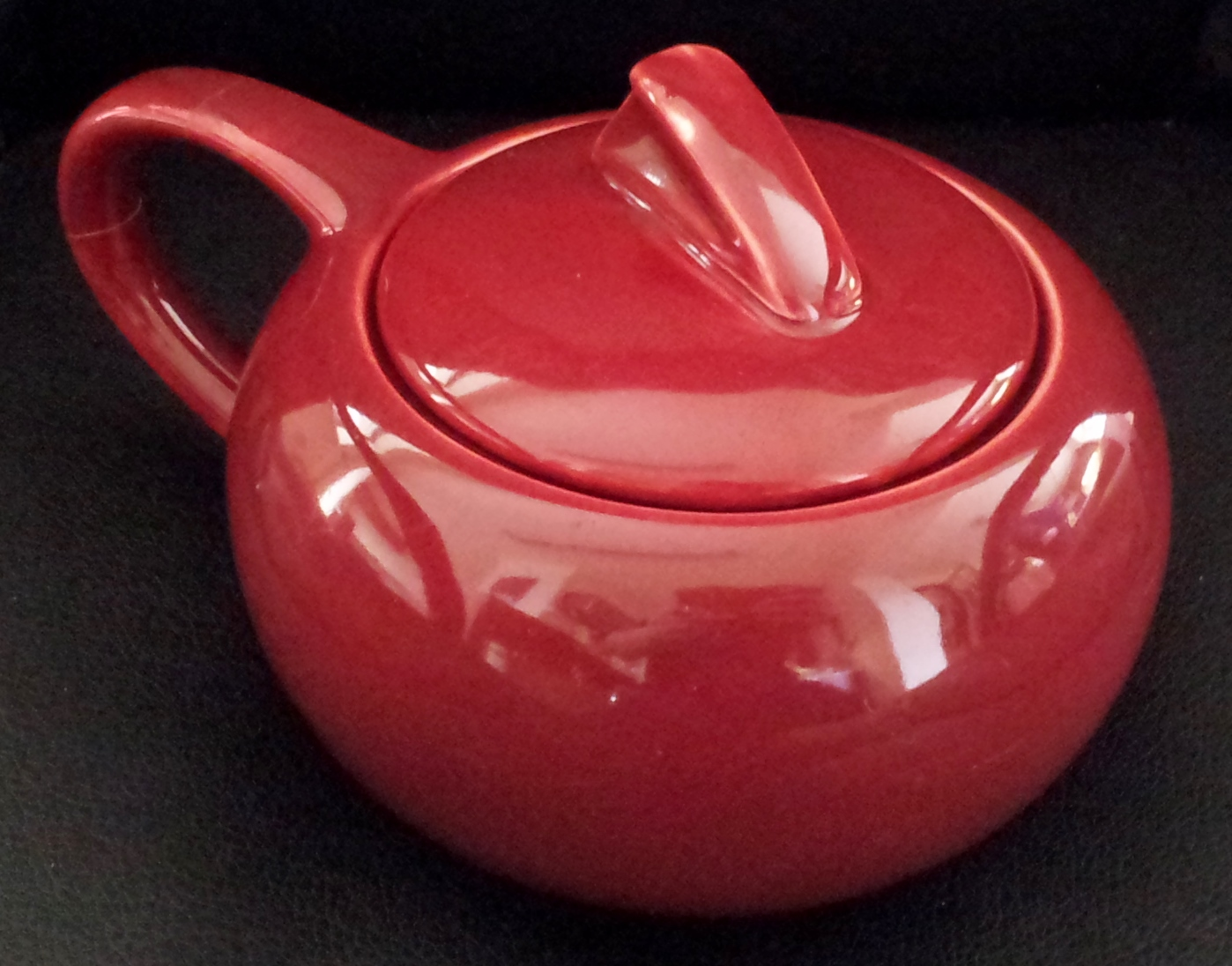 Holiday Red Sugar Bowl