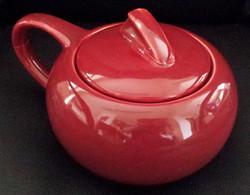 Holiday Red Sugar Bowl