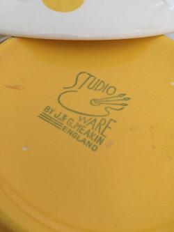 Polka Dot Yellow Tureen Backstamp