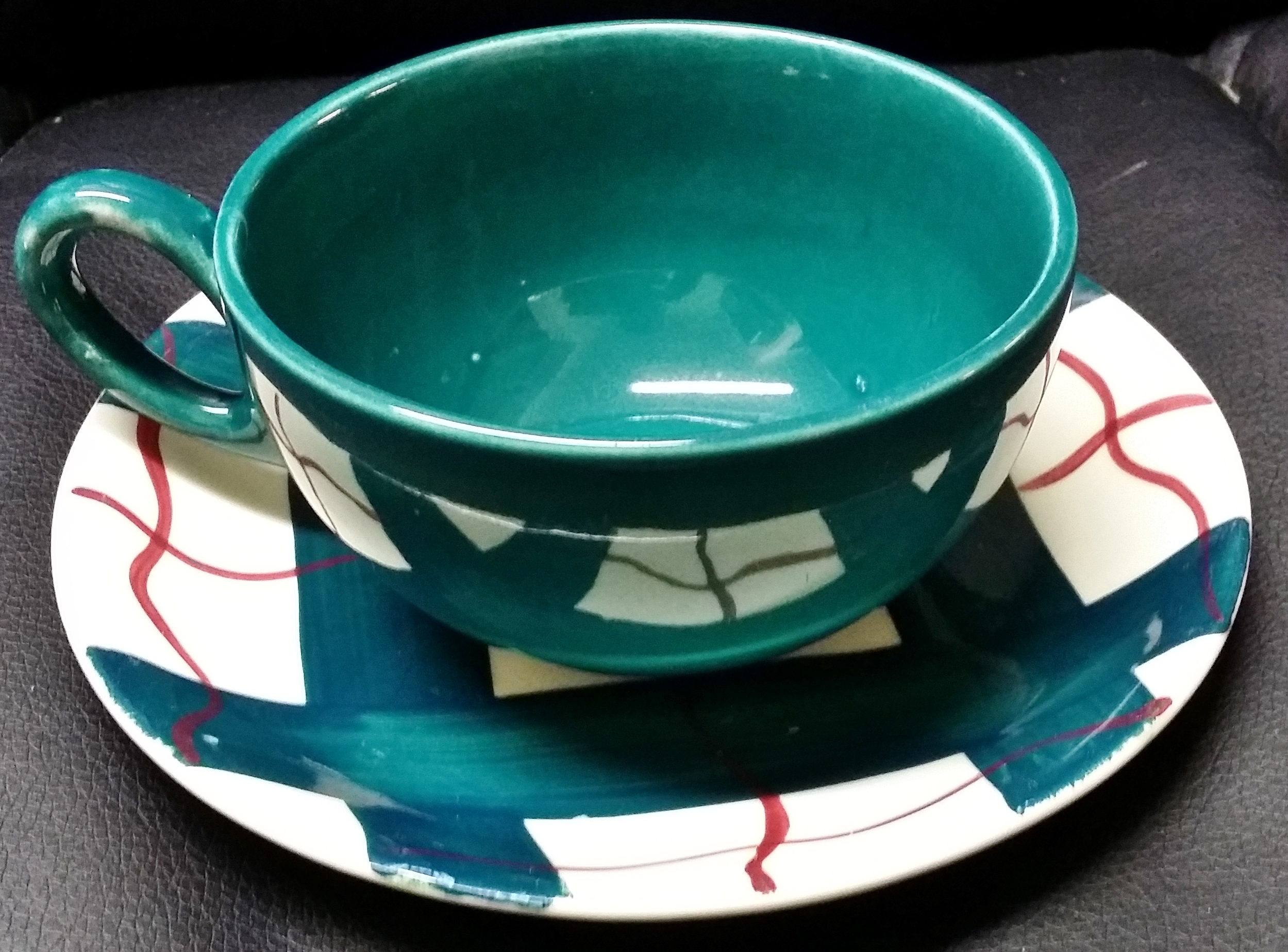 Habitant Green Cup & Saucer