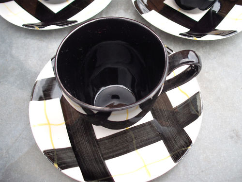 Habitant Black Cup & Saucer