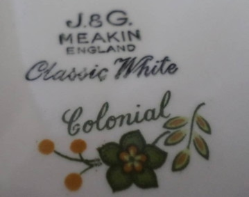 Colonial Backstamp