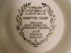 Hampton Court Backstamp