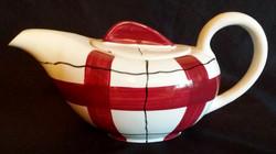 Habitant Red Teapot