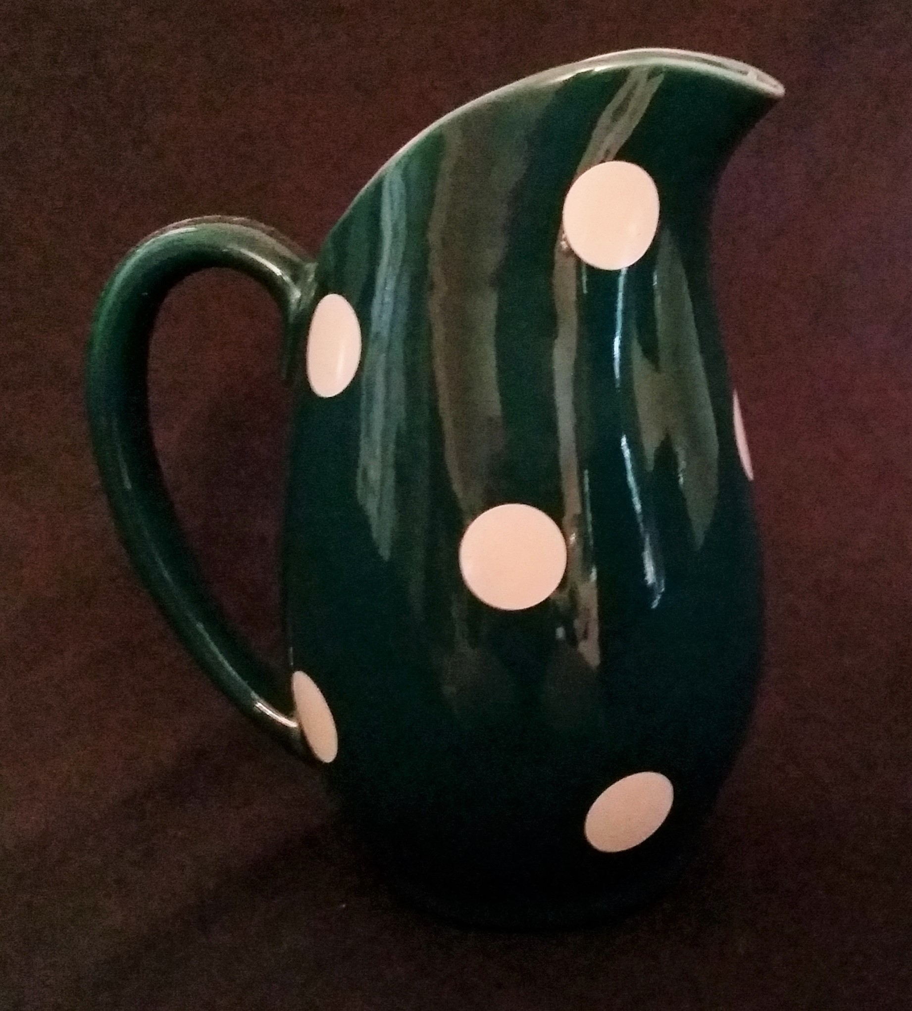 Polka Dot Green Jug Back