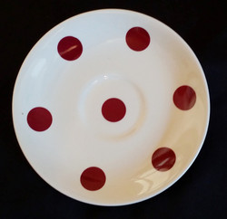 Polka Dot Red Saucer