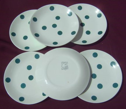 Polka Dot Green Plates