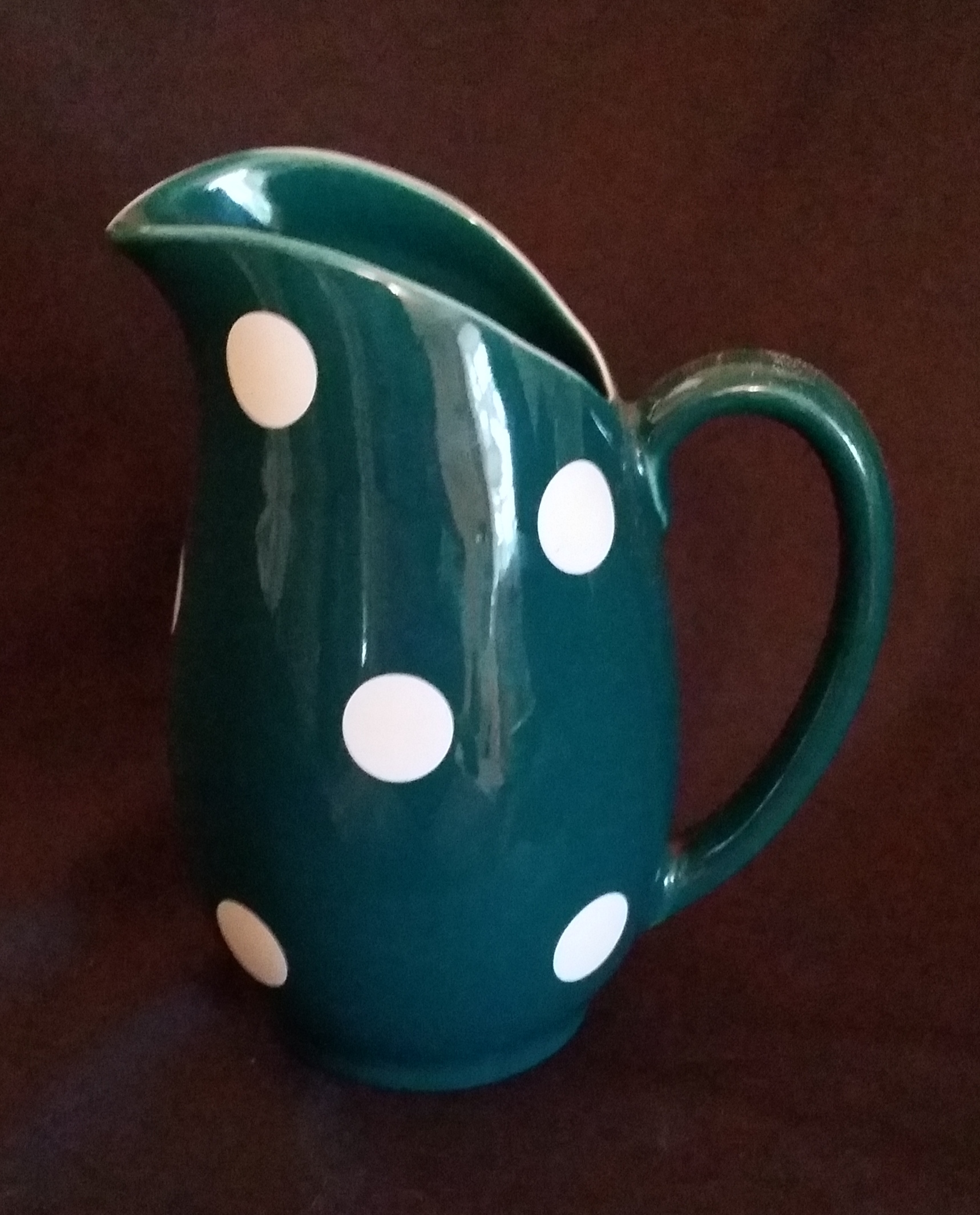 Polka Dot Green Jug