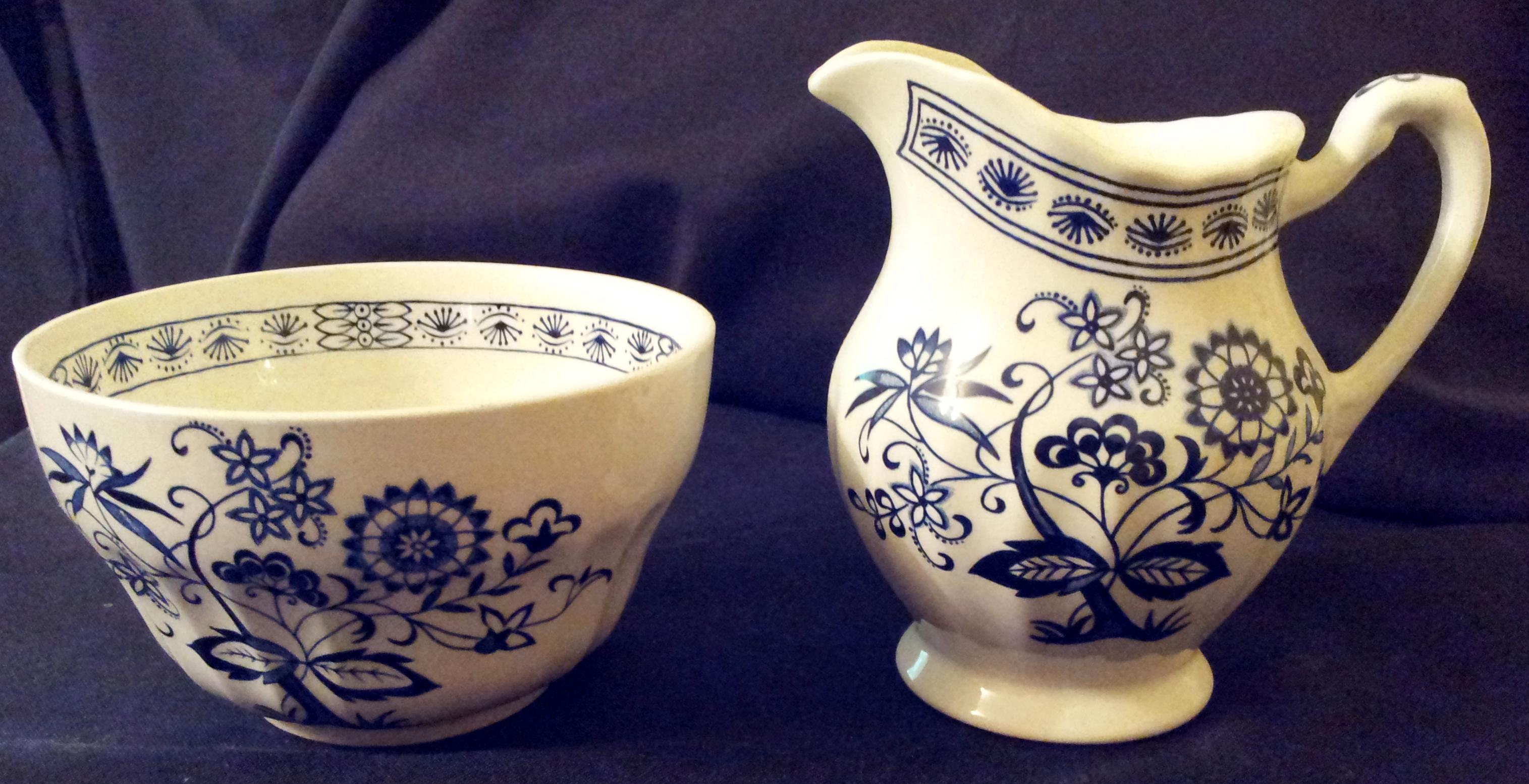 Blue Nordic Milk Jug & Sugar Bowl