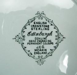 Edinburgh Plate Backstamp