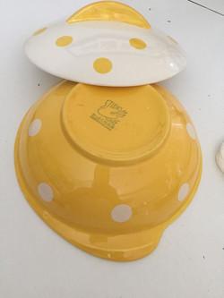 Polka Dot Yellow Tureen Base
