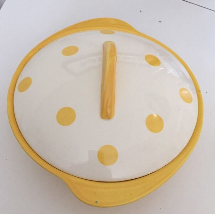 Polka Dot Yellow Tureen Top