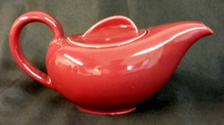 Holiday Red Tea Pot Back