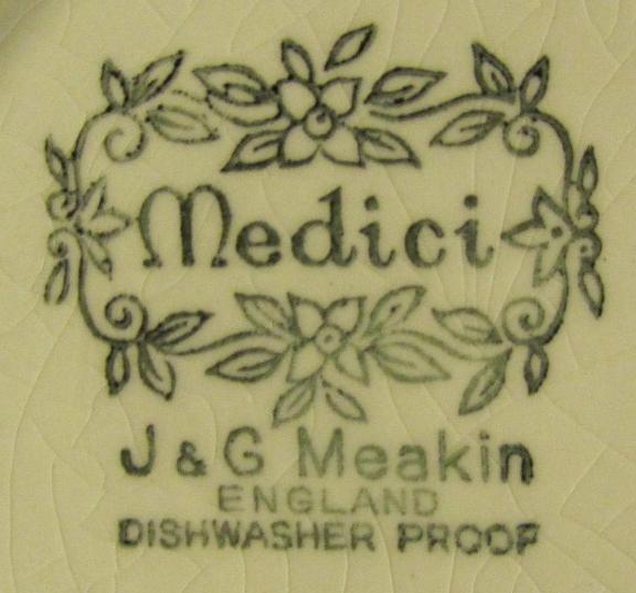 Medici Bowl Backstamp