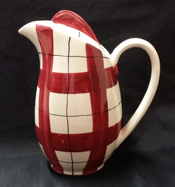 Habitant Red Coffee Pot Front