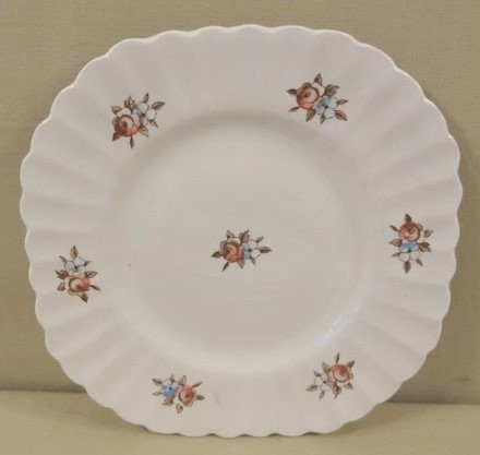 Rose Chintz Red Plate