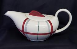 Habitant Red Teapot Front