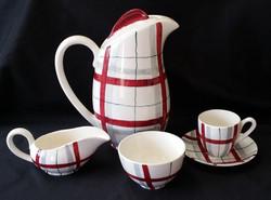 Habitant Red Coffee Set