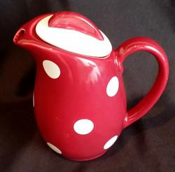 Polka Dot Red Coffee Pot