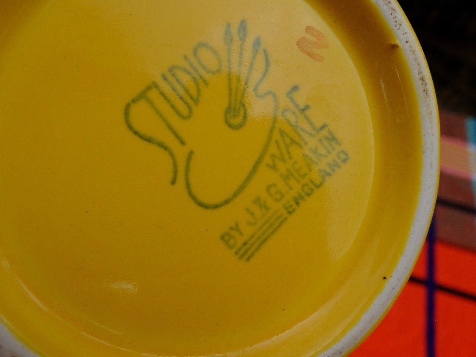 Polka Dot Yellow Jug Backstamp