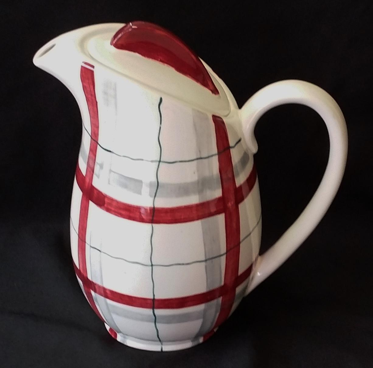Habitant Red Coffee Pot