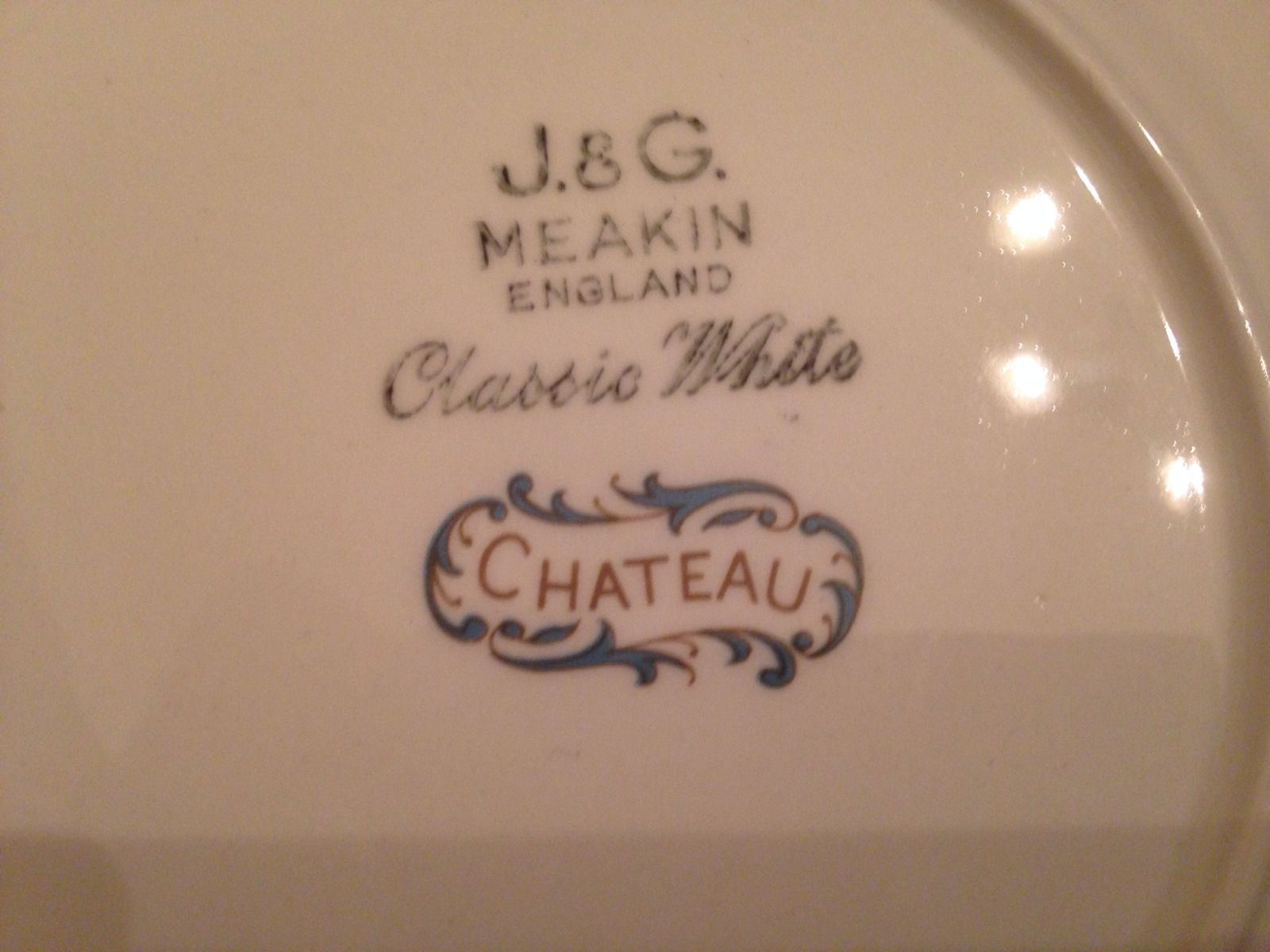 Chateux Plate Backstamp