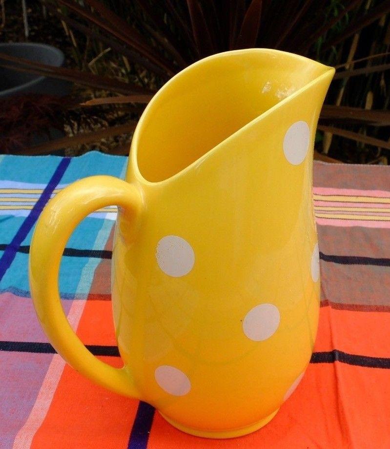 Polka Dot Yellow Jug