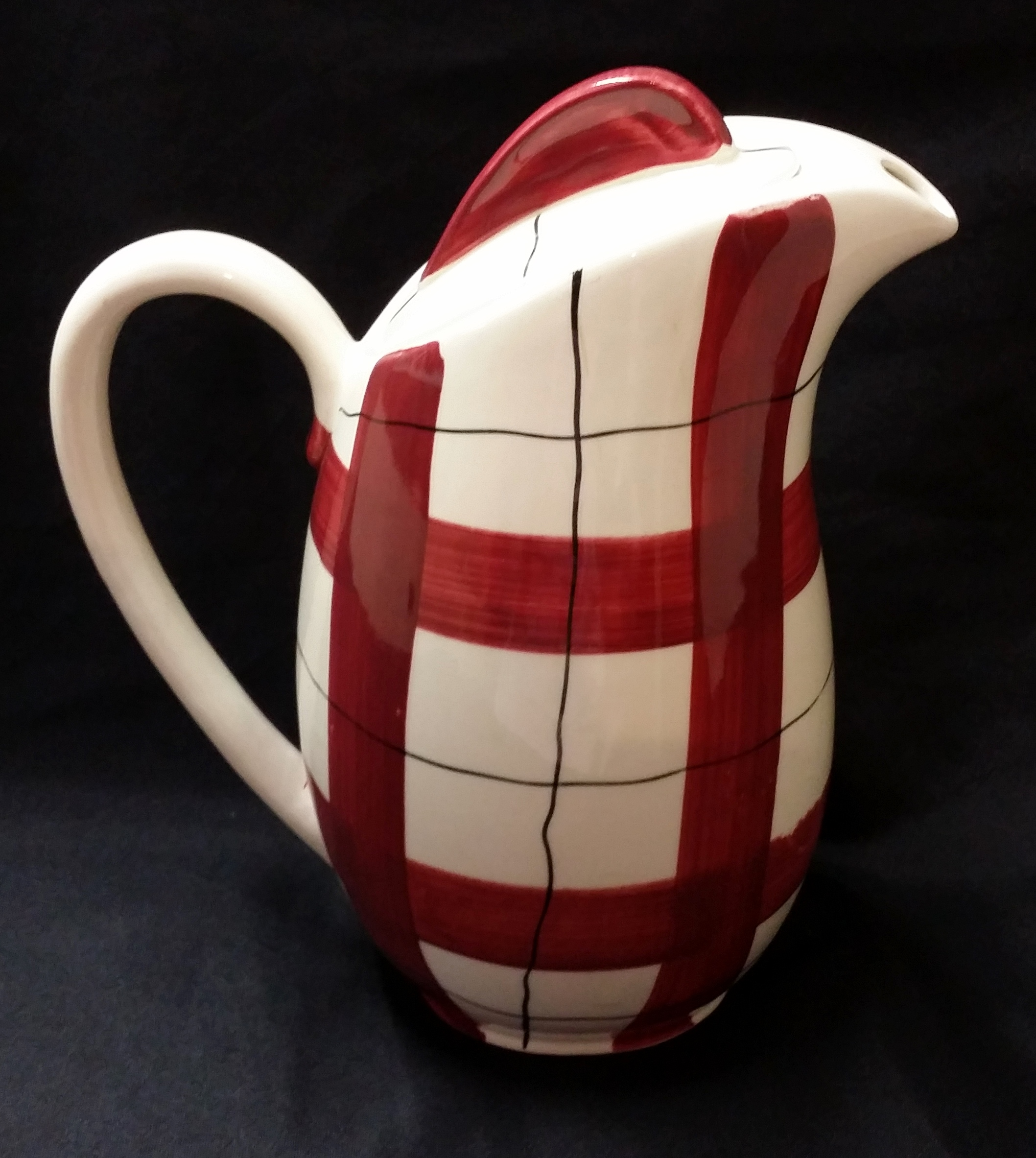 Habitant Red Coffee Pot Back