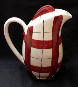 Habitant Red Coffee Pot Back