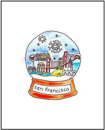 San Francisco Snowglobe