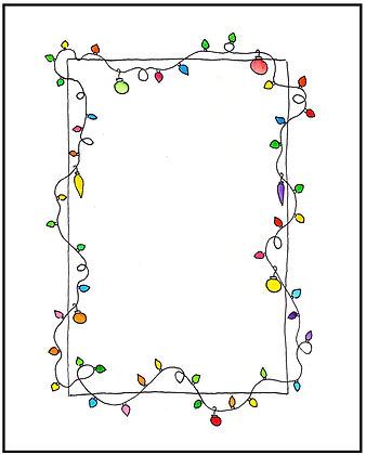 Holiday Lights Frame
