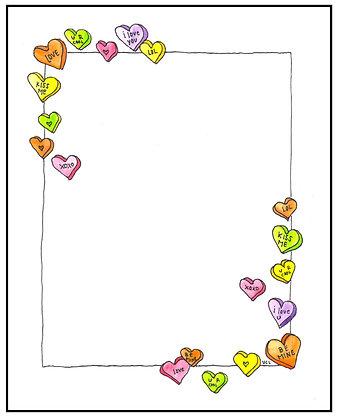 Candy Heart Frame