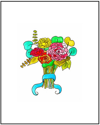 Blue Ribbon Bouquet