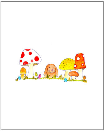 Bunny + Mushroom Forest