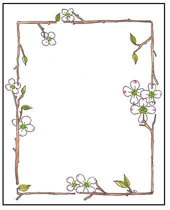 Dogwood Blossom Frame