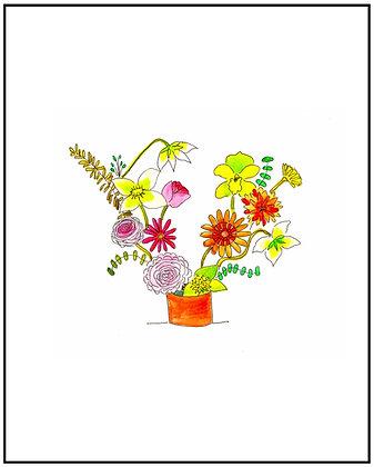 Brown Vase Bouquet