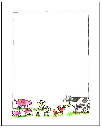 Farm Animals Frame