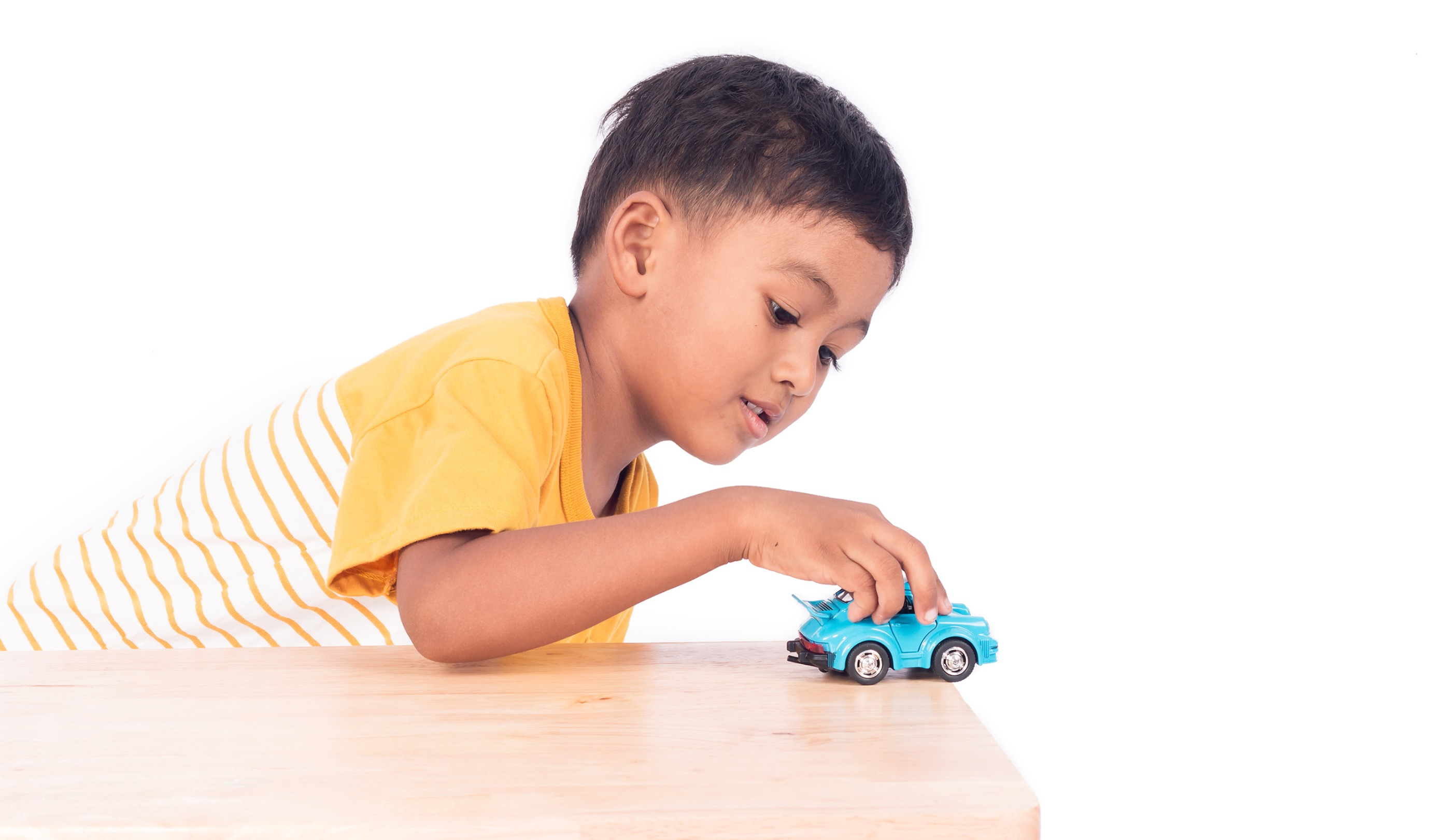 Child therapy with car on table