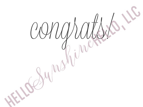 Refined Congrats | Single Card