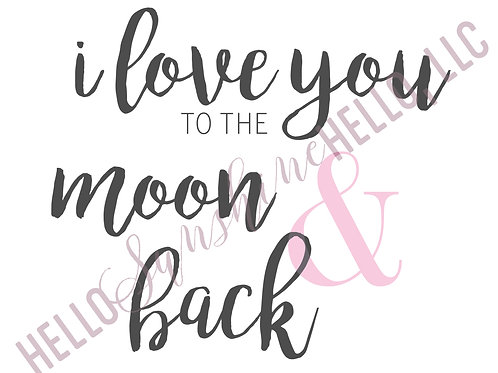 To the Moon & Back | Single Card