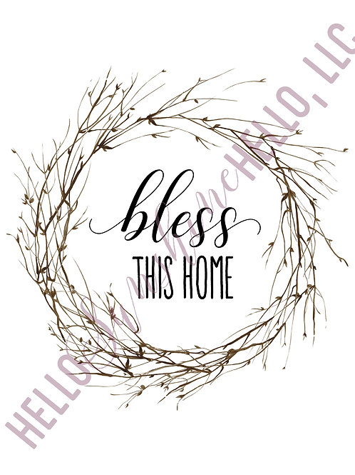 Blessed Home Print