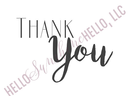 Eclectic Thank You | Single Card