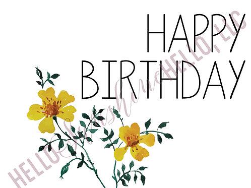 Bright Birthday | Single Card