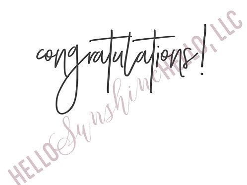 Spontaneous Congratulations | Single Card