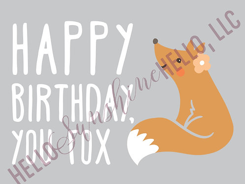 Foxy Birthday | Single Card