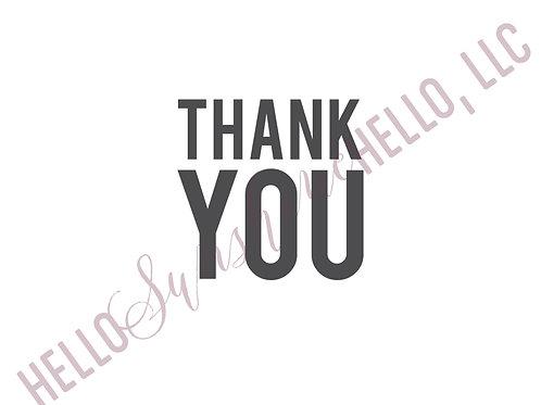 Bold Thank You | Single Card