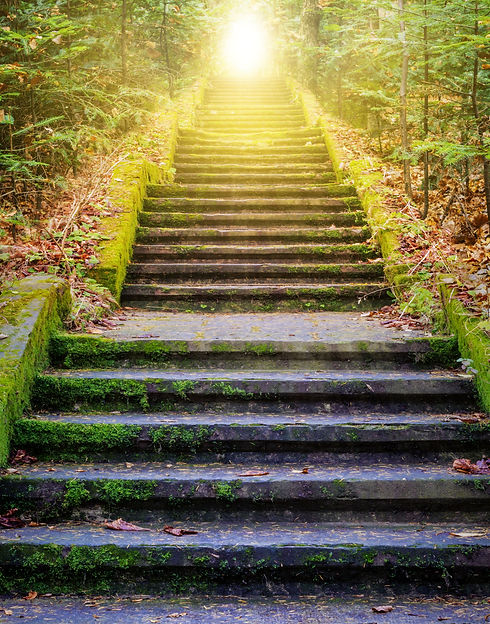 Steps leading up to the sun.  Way to Go