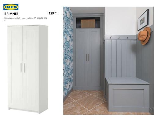 IKEA BRIMNES HACK TO BUILT IN CABINET