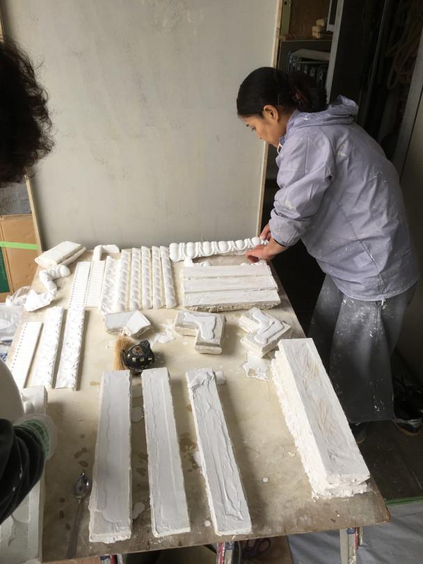 石膏装飾の事例